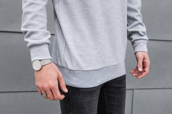 Vitaly Classic Crew x Grey Sweater for Men - Mule Ties