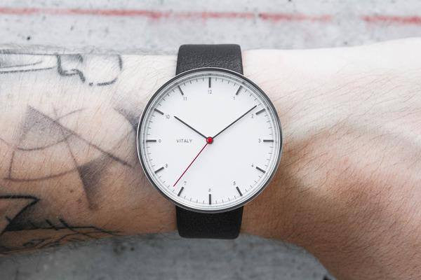 Vitaly Basel x Stainless Steel (Leather) Watch - Mule Ties