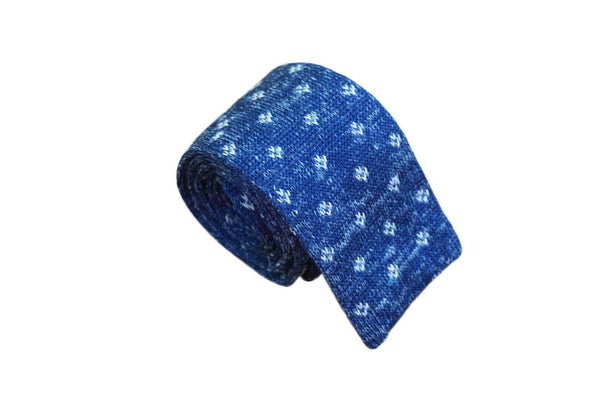 Dandelion Squared-Bottom Knitted Neck Tie - Mule Ties