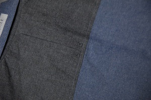 Cliff Blue & Grey Chambray - Mule Ties