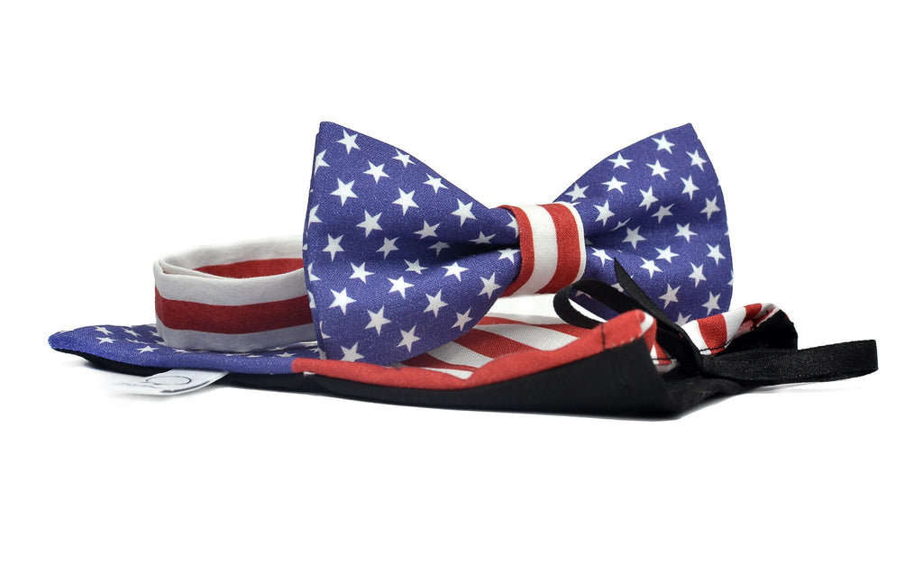 American Flag Ready-to-wear Bow Tie - Mule Ties
