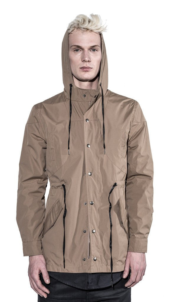 KOLLAR CLOTHING PIERCE - SAND KHAKI - WATERPROOF RAIN JACKET - MuleTies - 3