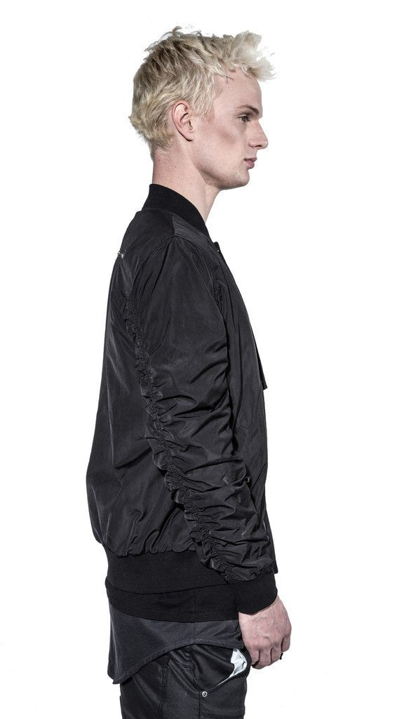 KOLLAR CLOTHING BECKETT - PITCH BLACK - BOMBER JACKET - Mule Ties
