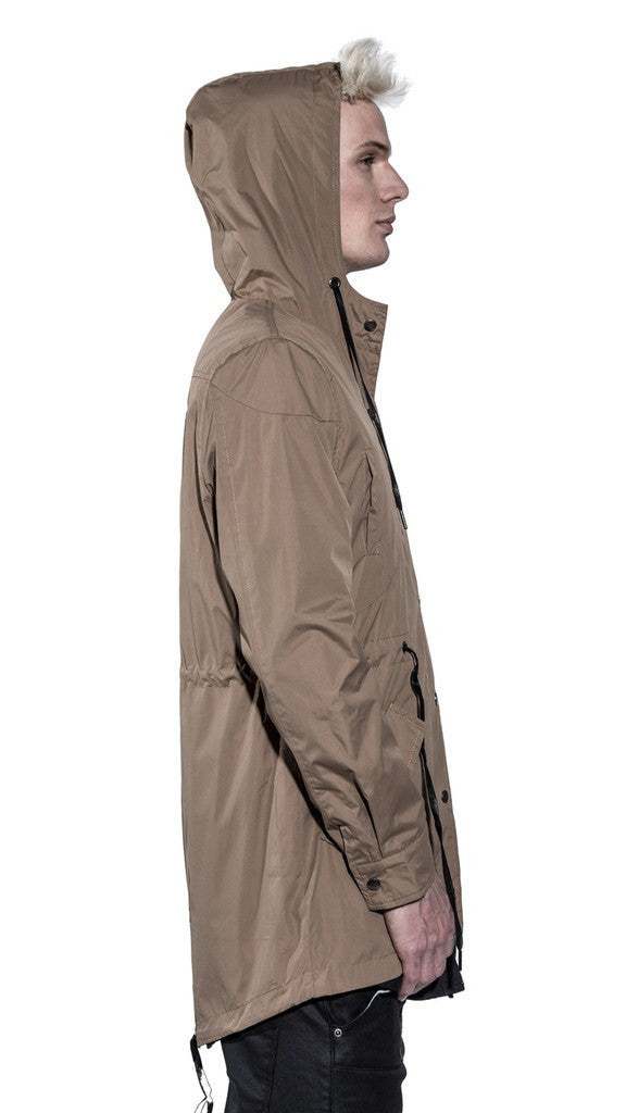 KOLLAR CLOTHING PIERCE - SAND KHAKI - WATERPROOF RAIN JACKET - Mule Ties