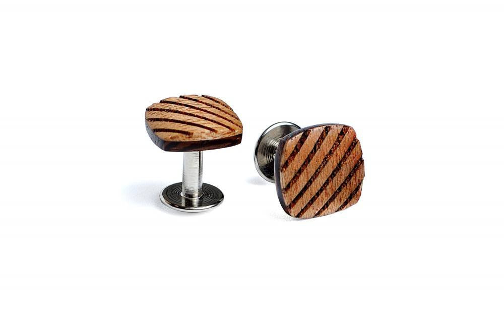 The Lion Wood Cufflinks - Mule Ties