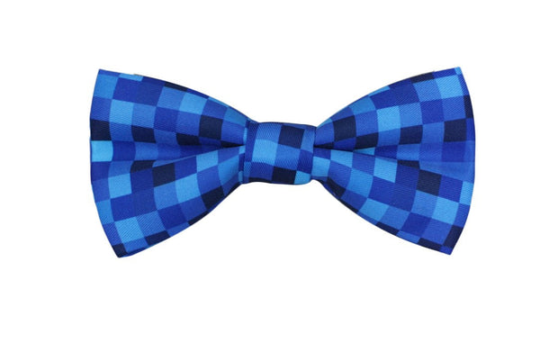 Blue Pixelated Men's Bow Tie - MuleTies - 1
