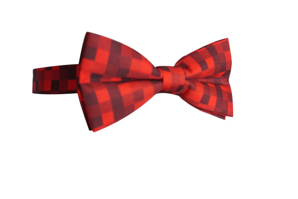 04Mule Red Pixelated Bow Tie - MuleTies - 2
