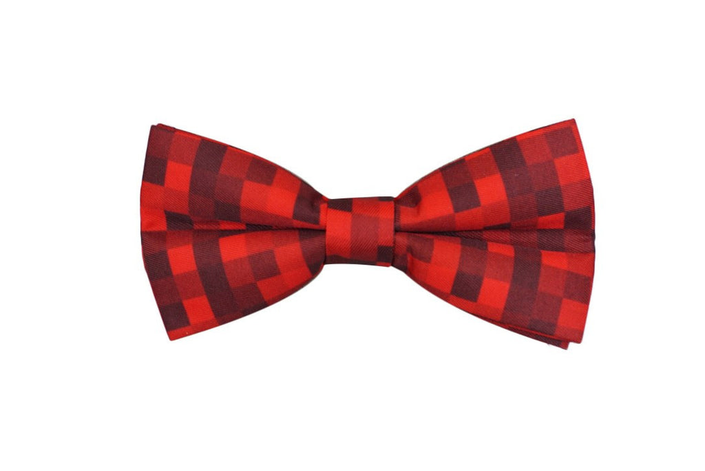 Red Pixelated Ready-To-Wear Bow Tie - Mule Ties
