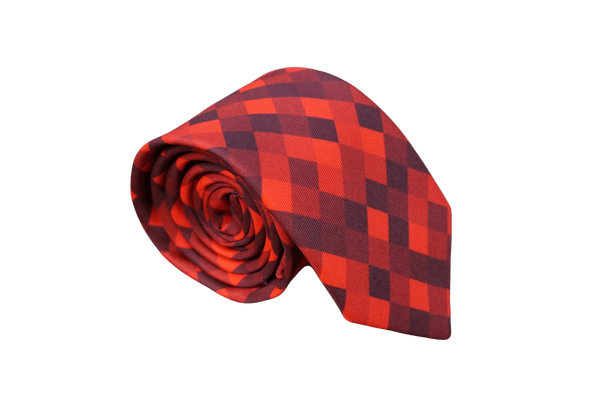 Red Rage Pixelated Neck Tie - Mule Ties