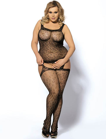 Leopard Patterned Bodystocking