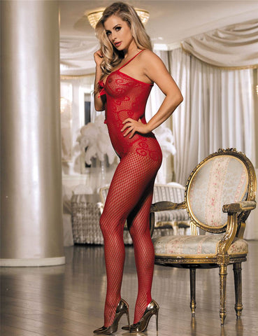 Sexy Crocheted Fishnet Bodystocking - Tveir litir