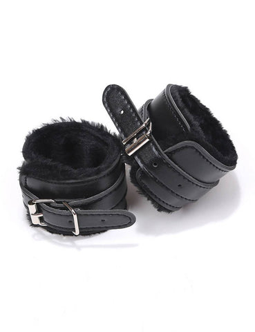 Bondage Sex Leather Handcuffs set