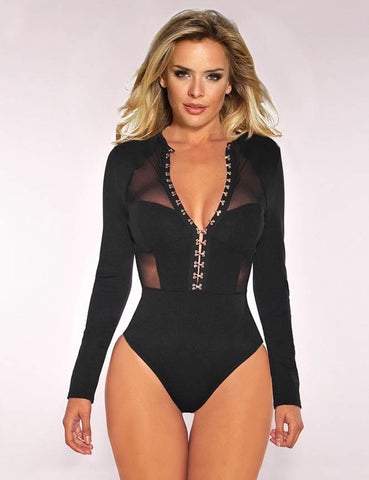 Wind Button Bodysuit