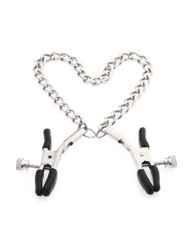 Screw Nipple Clamps with Chain - Silfur