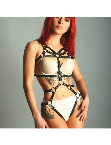 Leather Harness Gothic Straps Body Chain