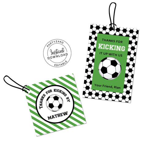 Soccer Favor Tags