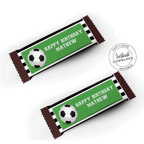 Soccer Chocolate Wrapper