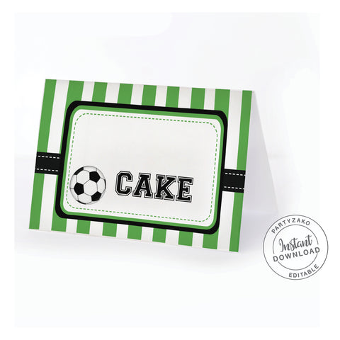 Soccer Buffet Label / Food Card