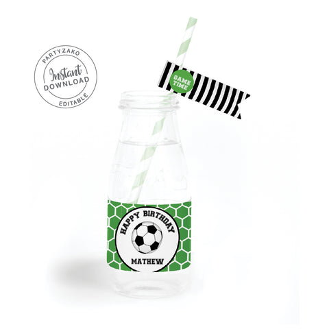 Soccer Water Label