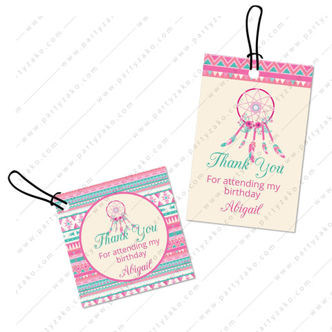 Tribal Favor Tags