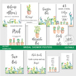 Cacti Bridal Shower Posters