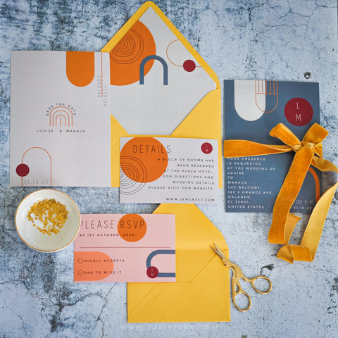 Colorful Modern Invitation