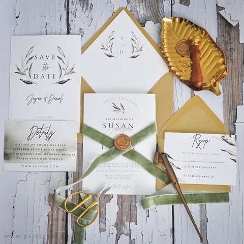 Olive Wreath Invitation