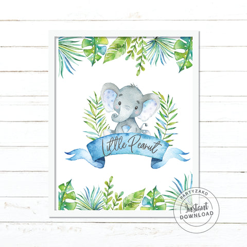 Little Peanut Elephant Baby Shower Poster