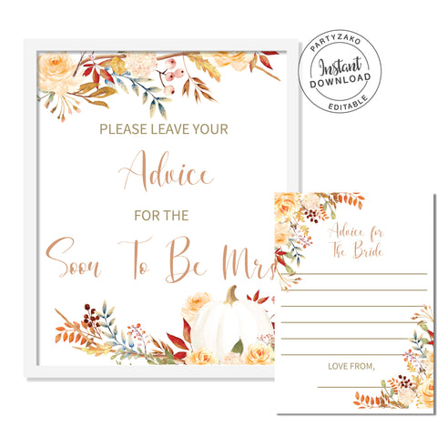 Fall Autumn Advice For the Bride