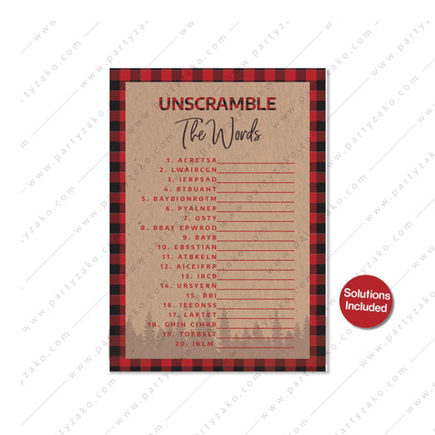 Lumberjack Unscramble The Words