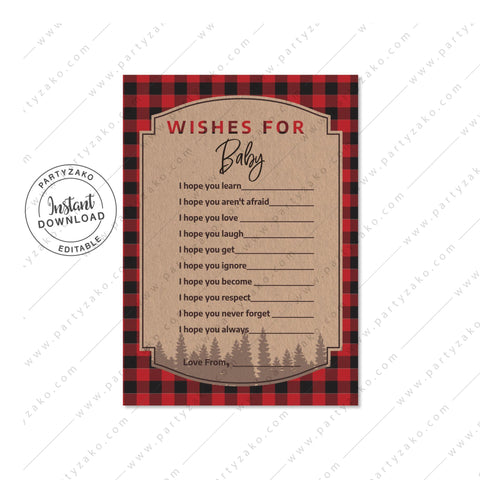 Lumberjack Wishes for Baby