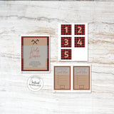 Lumberjack Baby Shower games and posters