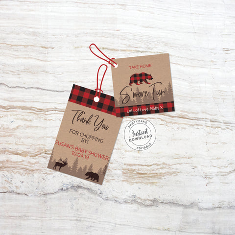 Lumberjack Favor Tags