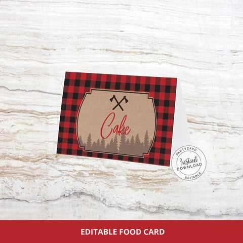 Lumberjack Buffet Label / Food Card