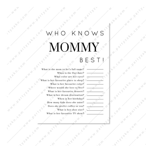 Minimal Who knows Mommy best