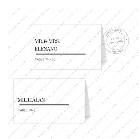 Modern Minimal Place Cards