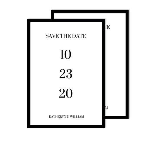 Minimal Save the Date I