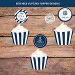 Nautical Cupcake Topper and Wrapper