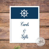 Cards Sign - Nautical Baby Shower