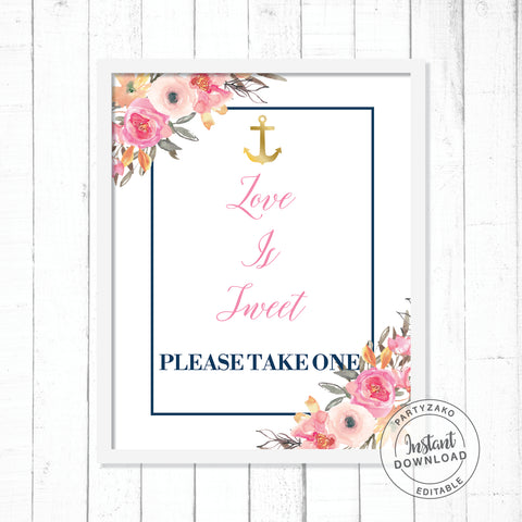 Nautical Love is Sweet Poster