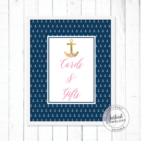 Nautical Cards & Gifts Poster