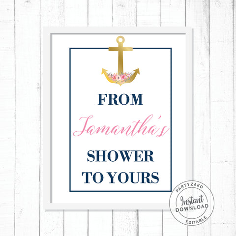 Nautical - From my shower to yours Poster