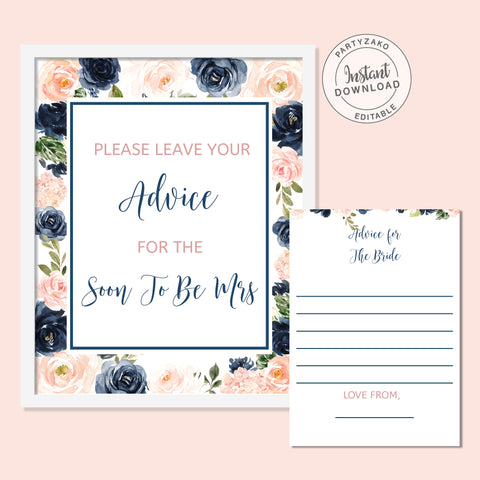 Navy Blush Advice For the Bride