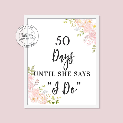 Peony - Days until I say I do Poster