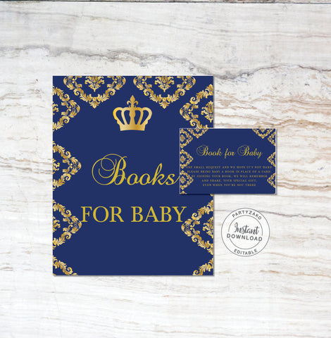 Royal Prince Baby Shower Book Request