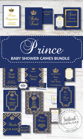 Royal Prince Baby Shower Late Night Diapers