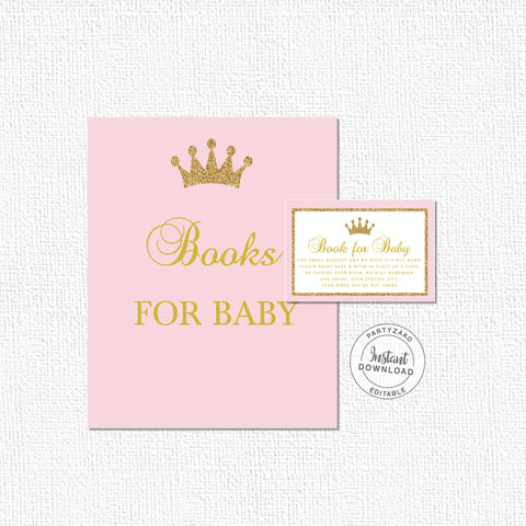 Princess Baby Shower Book Request