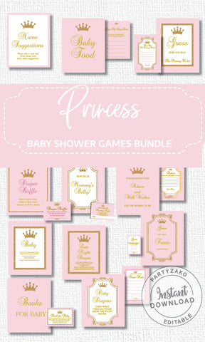 Princess Baby Shower Late Night Diapers