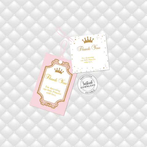 Princess Favor Tags