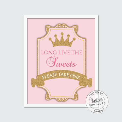 Guest book sign - Princess Baby Shower
